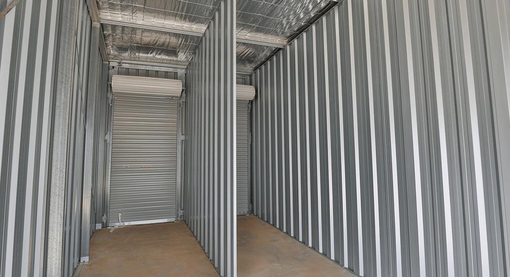 Inside Mildura Storage Sheds