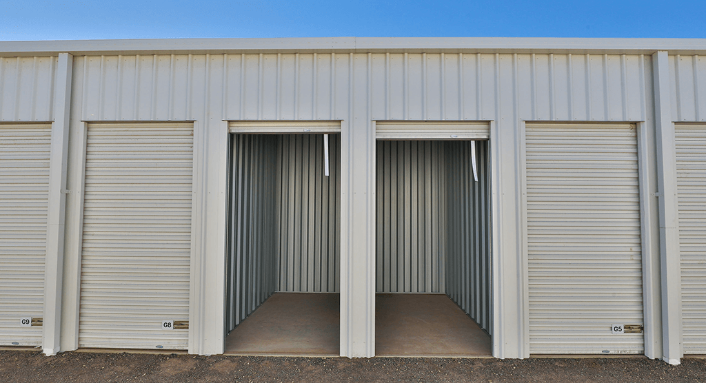 Mildura Storage small sheds open