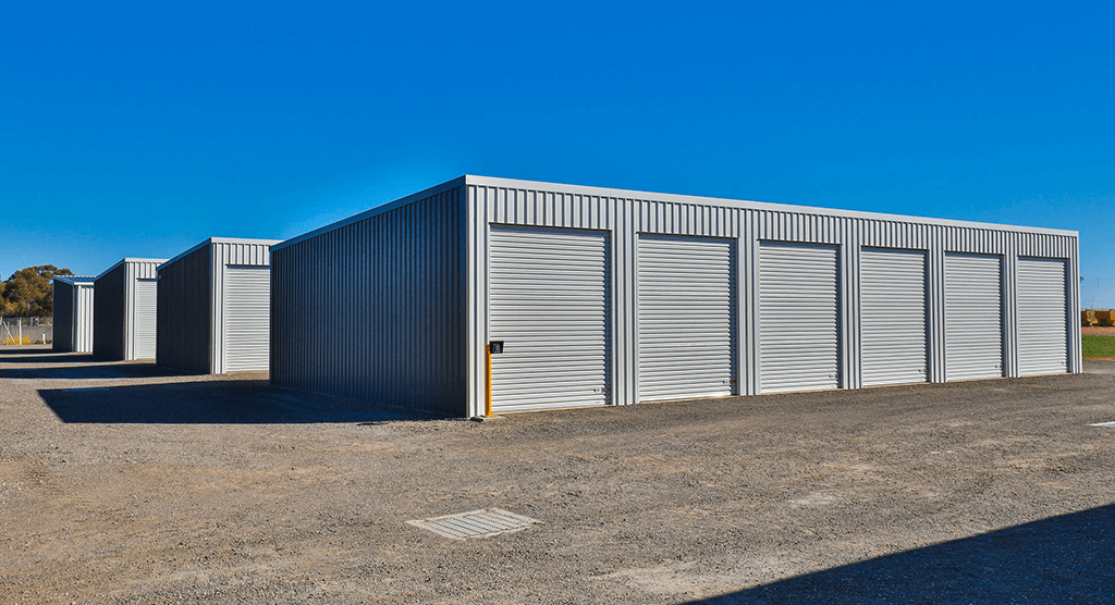 Mildura Storage Sheds row views